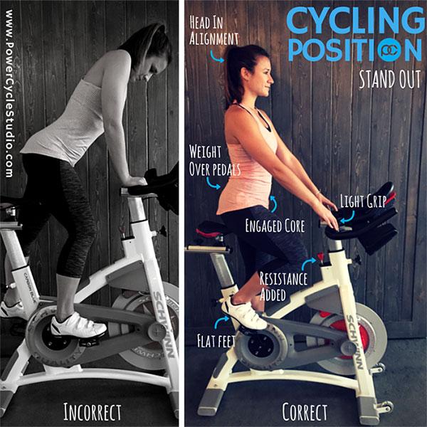 Using Incorrect Form exercise bike